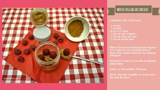 Mousse végétale au choco FR