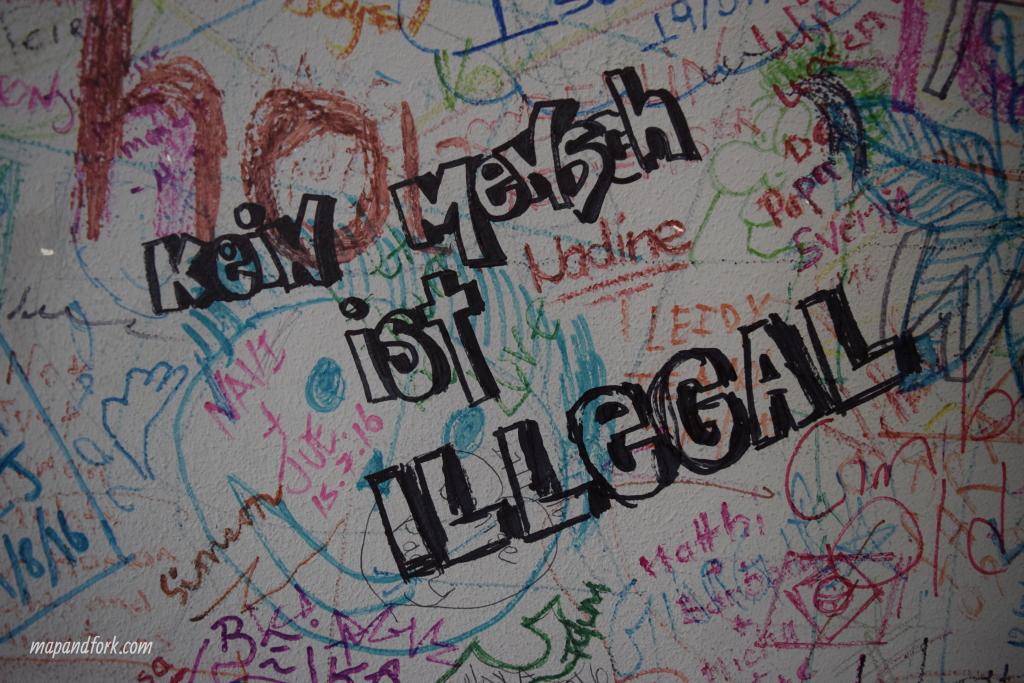Les graffitis des visiteurs